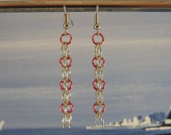 Earrings silver dangle hoops and colors available in 5 colors