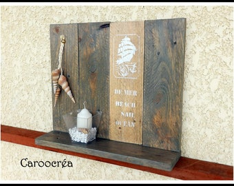 recycled pallet wood + Sconce shelf