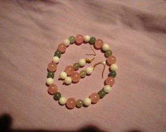 Set bracelet and earrings tenderness