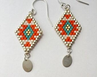 Lili - Orange earrings