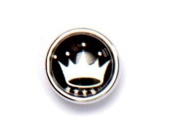 Snap clip Clixy white Crown Mini 12 mm - Ref 12061 5399