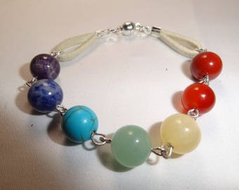 Bracelet 7 chakras magnetized and therapeutic