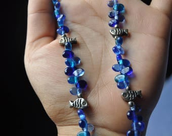 Ocean Blue Fish Necklace