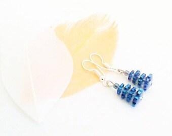 Crystal flowers earrings