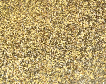 "52"" Wide Glitz Mesh Sequins - GOLD Sequin Glitz Fabric - Sold By The Yard - Mesh with Glitz Sequins Embroidery"