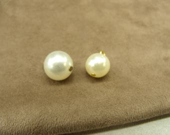 Button - BEAD Pearl 14 mm