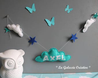 Garland of cloud personalized with your baby's name