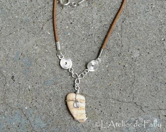 Shell and cotton cord necklace