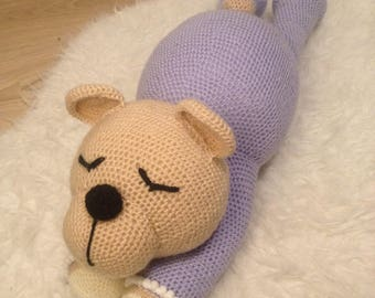 Sleepy bear - crochet Amigurumi (Madelenon model)