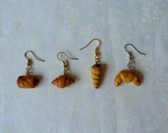Jewelry earrings bakery treats growing chocolate ice cream cone designer jewelery