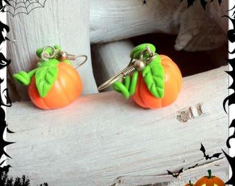 Pumpkins for Halloween earrings