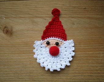 Red Santa Claus crochet height 7 cm