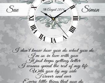 Personalised Lonestar Amazed Lyrics Clock