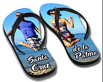 Kids flip flops personalized with your photo