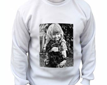 White man personalized with photo Sweatshirt