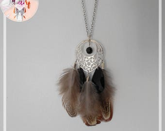 Dream real feather necklace