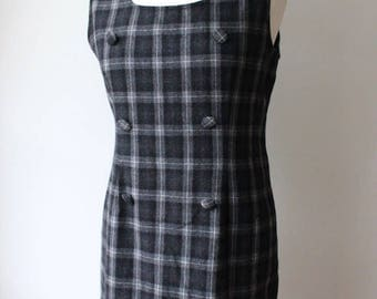Tartan wool dress