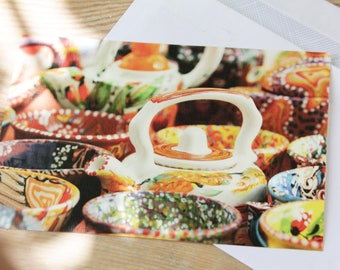 Ceramic postcard,print,photography,card,postcrissing,peper,retro,gift for her