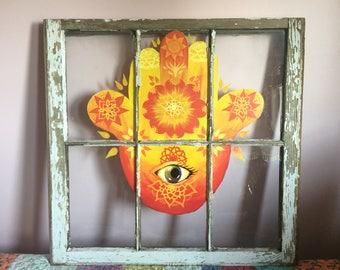 Sun Ray Hamsa Window