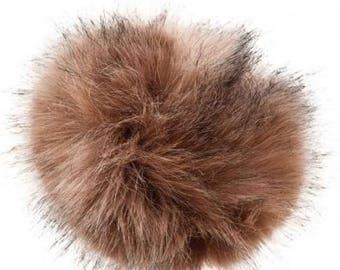 Pompom fake fur, 5cm diameter, galte