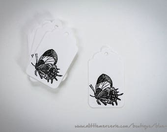 10 labels Tags paper (butterfly)