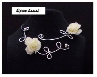 Silver Aluminum wire necklace