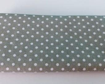 grey fabric with white dots cotton 55 x 45,5 cm