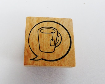 wooden stamp packed to the square 3 cm