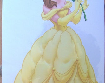ADHESIVE DECO DISNEY BELLE + COLORING BOOK-WALL DECAL