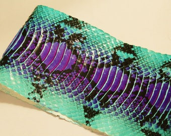 Python SNAKESKIN Turquoise/purple print