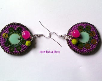 resistance: colorful and original earrings