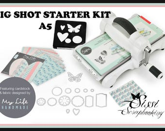 "NEW OCTOBER 2016! BIG SHOT SIZZIX CUTTING KIT STARTER EMBOSSING A5 NEW COLLECTION ""MY LIFE HANDMADE"""