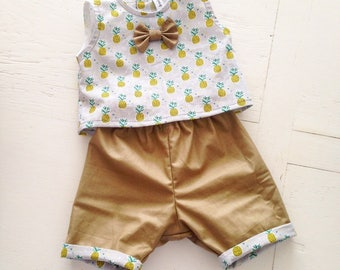 Bra and shorts 3 months baby set