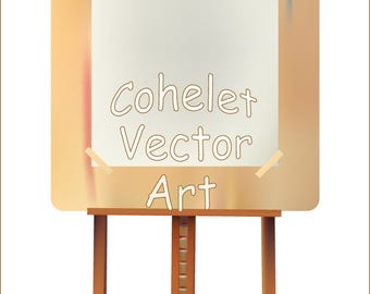 Easel  Vector and Raster Files  clip art eps png