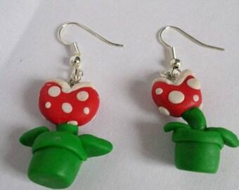 Mario Fimo Flower Earrings