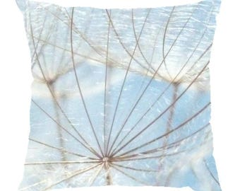 "Decorative Pillow made from a photograph of dandelion ""Plumetis"" 40x40cm"
