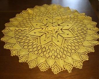 crochet table centerpiece