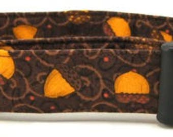 Brown and Orange Acorns Dog Collar