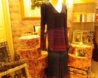 Jersey With Lycra Pants And Top In Multi Striped Colors