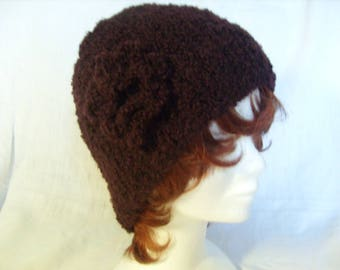 Plum Terry yarn knitted Hat