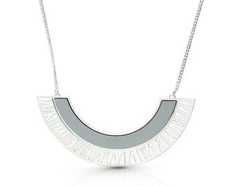 Cleopatra Necklace, Geomatric Moon Necklace