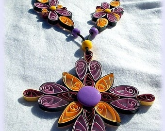 unique paper necklace