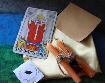 Spell In A box- The Heirophant-gain knowledge