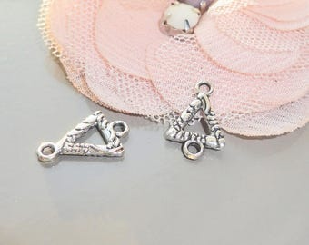 4 x connectors, link, support triangle stud earring, 16 x 10