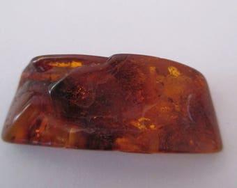 Baltic amber rectangular stone