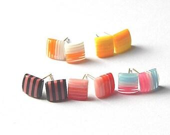 5 earrings multicolored children, set 1