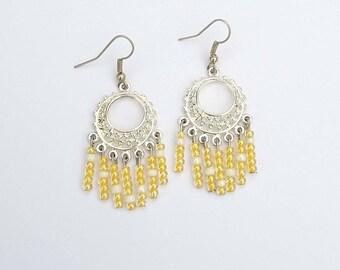 Fancy large round earrings