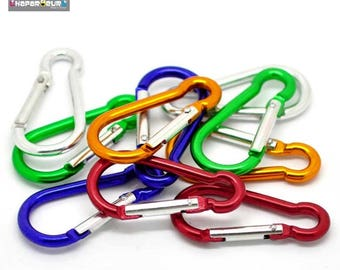 Set of 5 mixed color climbing carabiner Keychain 5x2.5cm