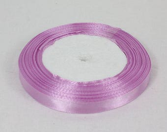 22 metres satin ribbon purple 10 mm