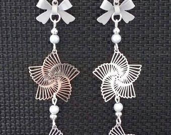 """""""Spiral knot"""" earrings 9 cm"""